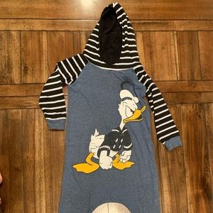 Donald Duck hooded T shirt romper